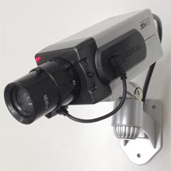 防犯ダミーカメラ【LED常時点滅】【電池駆動】【室内用】