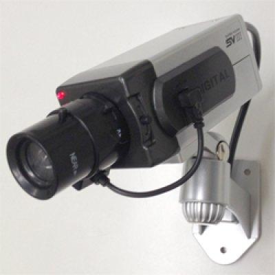 画像1: 防犯ダミーカメラ【LED常時点滅】【電池駆動】【室内用】
