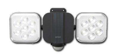 画像1: フリーアーム式 LEDセンサーライト (8W LED×2灯)