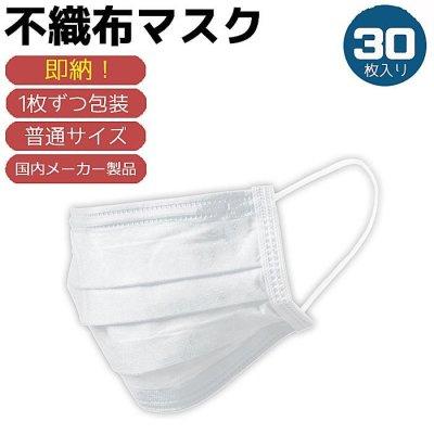 画像1: 大人用 不織布マスク【30枚入り】【送料無料】
