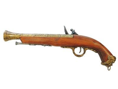 画像2: DENIX デニックス 1031/L イタリアンフリントロック ゴールド(18世紀 39cm 690g)