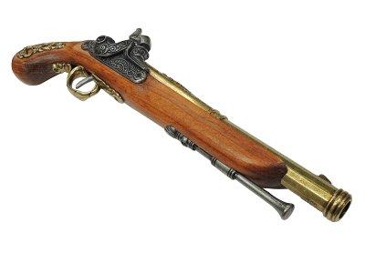 画像3: DENIX デニックス 1014/L 決闘用 パーカッションピストル ゴールド(フランス 19世紀 37cm 515g)