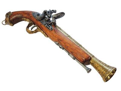 画像3: DENIX デニックス 1031/L イタリアンフリントロック ゴールド(18世紀 39cm 690g)