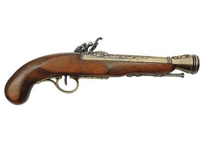 画像2: DENIX デニックス 1126/L 海賊ピストル ゴールド 左手用 レプリカ 銃 モデルガン