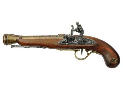 画像1: DENIX デニックス 1126/L 海賊ピストル ゴールド 左手用 レプリカ 銃 モデルガン