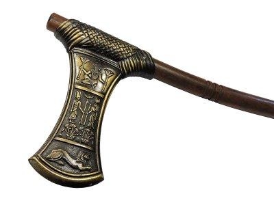 画像3: デニックス DENIX 622/L アハムス王 アックス ゴールド 模造刀 レプリカ 剣 刀 ソード 斧 AXE