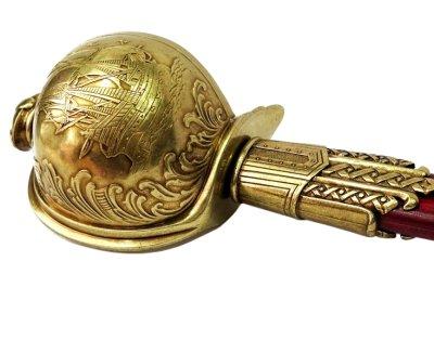 画像3: DENIX デニックス 4198 バルバロッサ 海賊 サーベル ゴールド 模造刀 トルコ レプリカ 剣 刀 ソード
