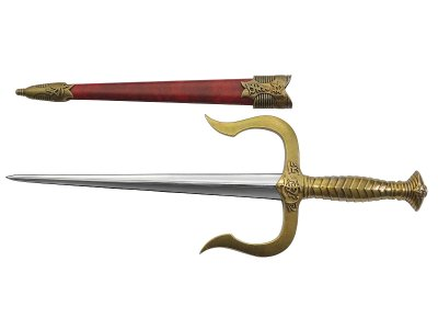 画像2: デニックス DENIX 4178/L サイ ディフェンス ダガー ゴールド 模造刀 レプリカ 剣 刀 ソード 短刀 釵