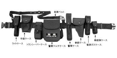 画像1: 中国警察ベルト装備システム クロス製