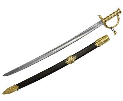 画像2: DENIX デニックス 4195 ブラック ベアード 海賊 サーベル ゴールド 模造刀 レプリカ 剣 刀 ソード