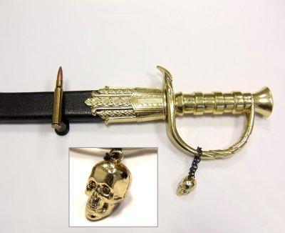 画像4: DENIX デニックス 4195 ブラック ベアード 海賊 サーベル ゴールド 模造刀 レプリカ 剣 刀 ソード