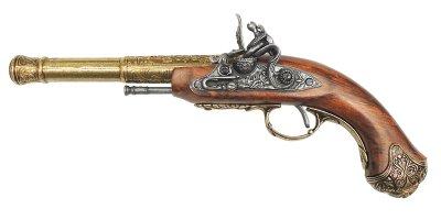 画像1: DENIX デニックス 1296/L フリントロック 左手用 ゴールド レプリカ 銃 モデルガン