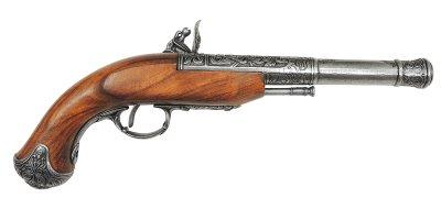 画像2: DENIX デニックス 1296/G フリントロック 左手用 グレー レプリカ 銃 モデルガン