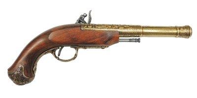 画像2: DENIX デニックス 1296/L フリントロック 左手用 ゴールド レプリカ 銃 モデルガン