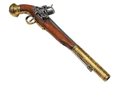 画像5: DENIX デニックス 1147/L フリント ロック ゴールド レプリカ 銃 モデルガン