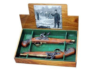画像1: DENIX デニックス 2-1196/L 2丁決闘用 フリントロック イギリス 18世紀 レプリカ 銃 モデルガン