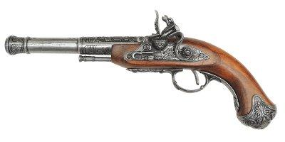 画像1: DENIX デニックス 1296/G フリントロック 左手用 グレー レプリカ 銃 モデルガン