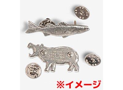 画像2: ピンバッジ ピラニア 110 ぴらにあ 魚 ピンズ バッチ スズ シルバー ピューター ブローチ バッジ バッヂ【ゆうパケット発送可】