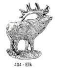 ピンバッジ エルク 404 elk シカ 鹿 アメリカアカシカ ピンズ バッチ スズ シルバー ピューター ブローチ バッジ バッヂ【ゆうパケット発送可】