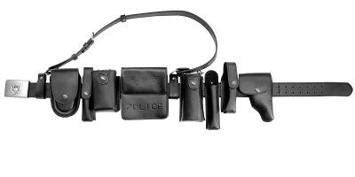 画像1: 中国警察ベルト装備システム レザー製