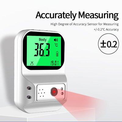 画像1: 壁掛け 非接触型 体温計