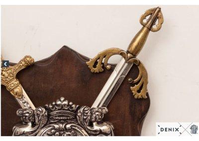 画像4: DENIX デニックス 575 ソード&盾 ディスプレイ 模造刀 レプリカ 剣 刀 ソード ミニ ペーパーナイフ