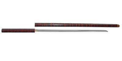 画像1: 尾形刀剣 ZT-5 座頭市仕込み杖 丸桜皮巻