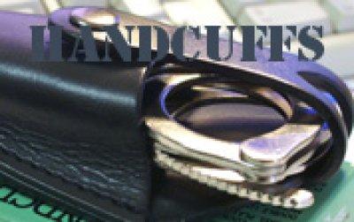 画像1: 手錠ケース 本皮 ハーフカバー