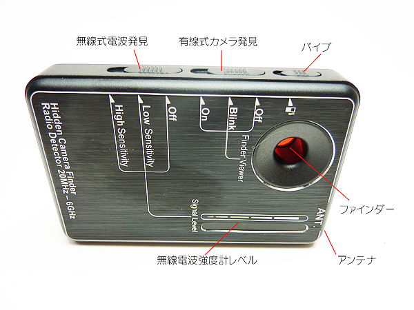 盗撮カメラ発見器 説明