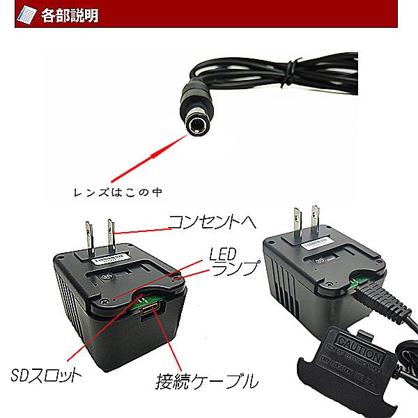 ACアダプター型ビデオカメラ