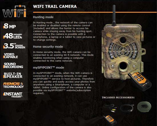 Wi-Fi対応 トレイルカメラ3