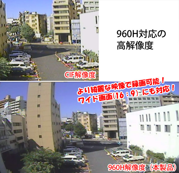 960H対応 デジタルビデオレコーダー