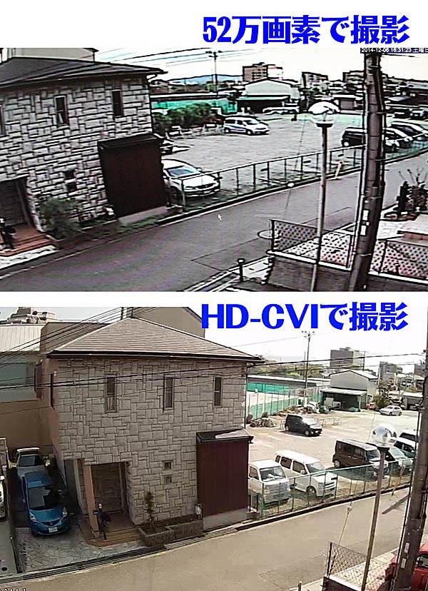 HD-CVI 防犯カメラの画質