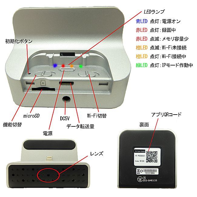 充電スタンド型カメラ 説明