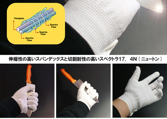 スパンニットグローブ 防刃手袋
